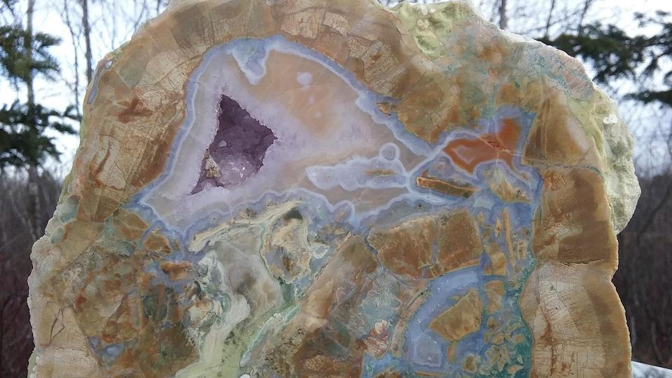 Agate du mont Lyall en Gaspésie