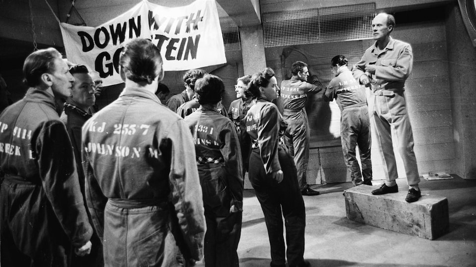 Une scène du film adapté du roman de George Orwell, « 1984 »