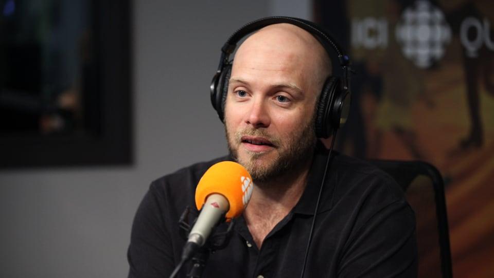 Antoine Bouchard, en studio