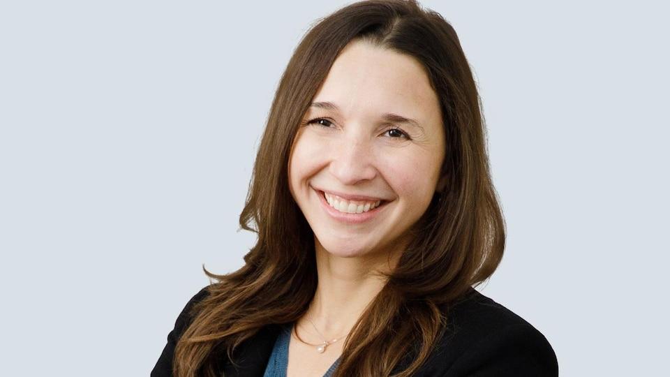 Une photo du visage de Véronique Lecault, co-fondatrice et chef des opérations de l'entreprise de biotechnologie AbCellera de Vancouver