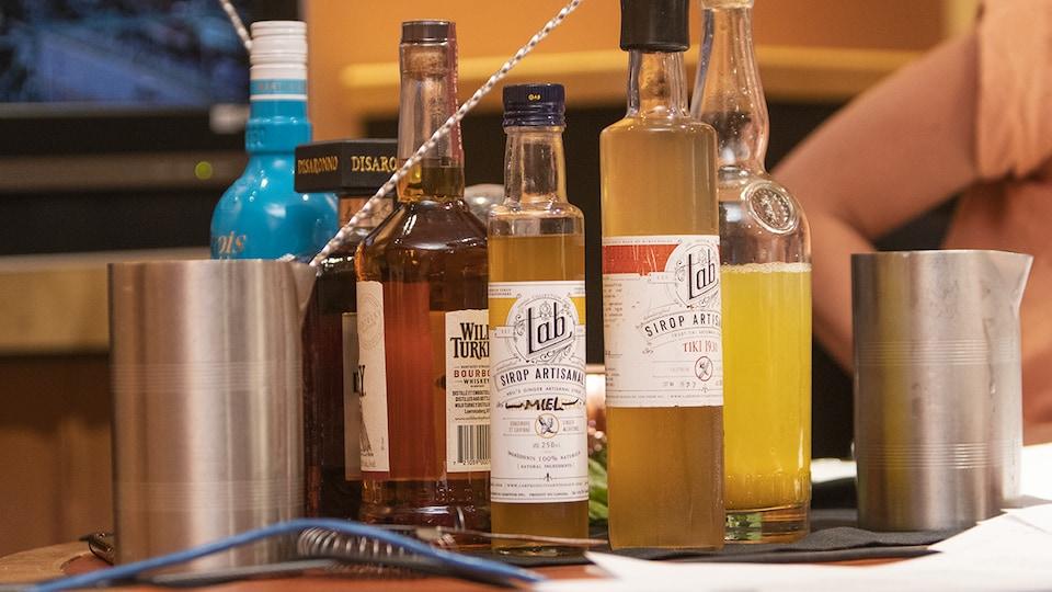 Quelques ingrédients utilisés par la mixologue Gabrielle Panaccio pour la confection de ses cocktails de la semaine.