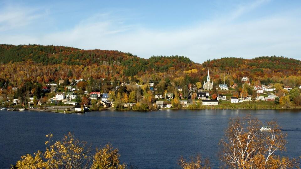 Vue sur une petite municipalité du Québec