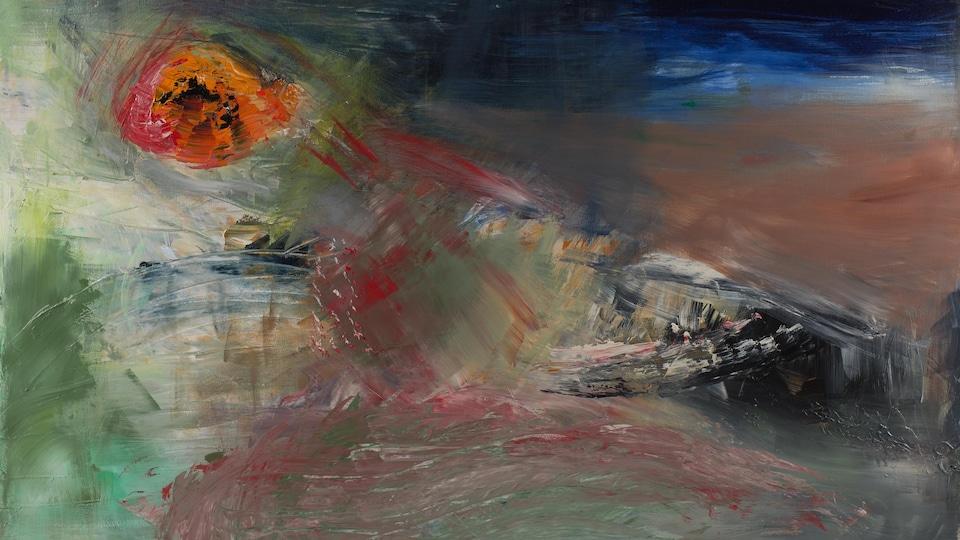 L'une des œuvres présentée dans l'exposition Volumes et lumière, de Roger Taillibert