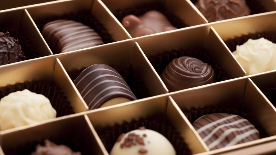 Une boîte de chocolats.