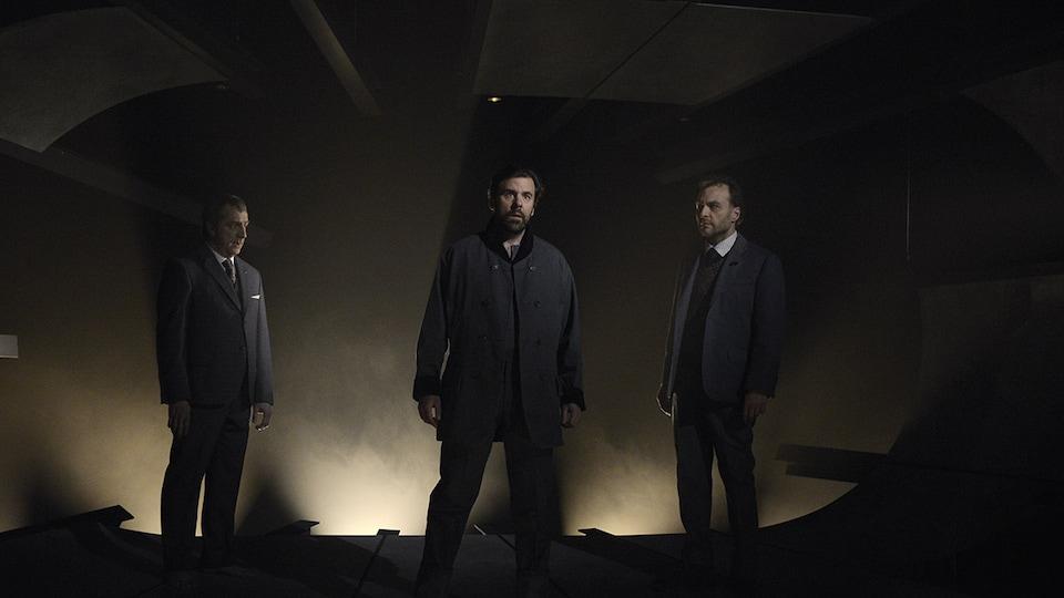 Martin Drainville, Patrice Dubois et Bruno Marcil incarnent 3 Thomas Harding dans la nouvelle création d'Alexia Bürger.