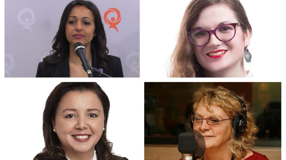 Montage présentant les photos de Ruba Ghazal, Caroline Trottier-Gascon, Michelle Blanc et Alice Abou-Khalil.