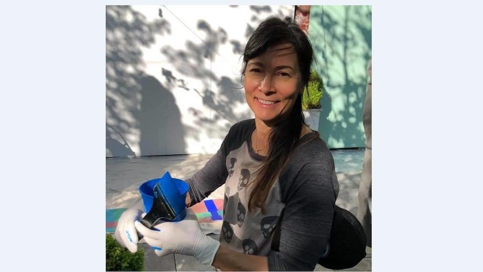 L'artiste visuelle Marion Landry de Vancouver.