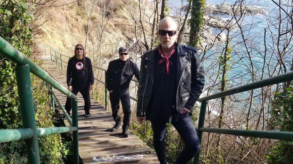 Le groupe canadien Men without Hats dans l'île de Vancouver