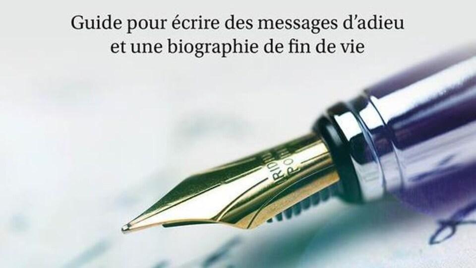 Couverture d'un livre avec la photo d'un stylo à plume.