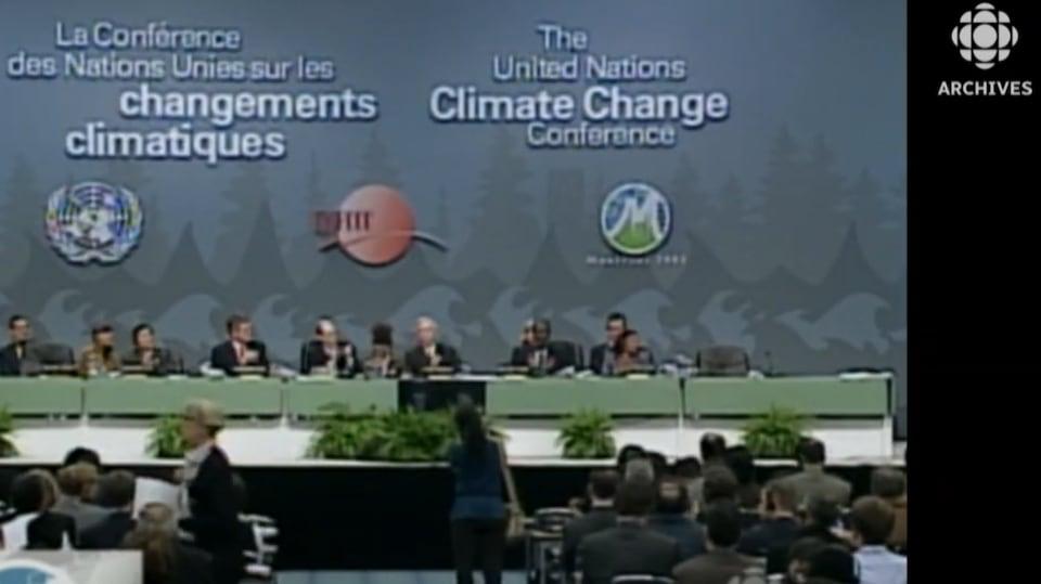Vu de l'avant-scène de la conférence de Montréal tenue au Palais des congrès.