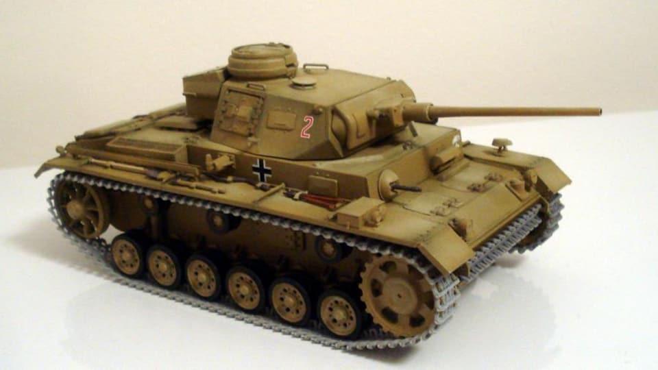 Un char d'assaut en modèle réduit