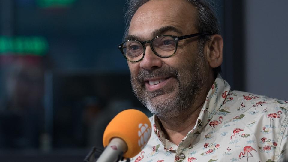 Christian Denis, en studio