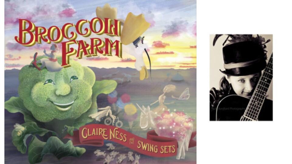 Couverture de l'album de Claire Ness 'Broccoli Farm'.