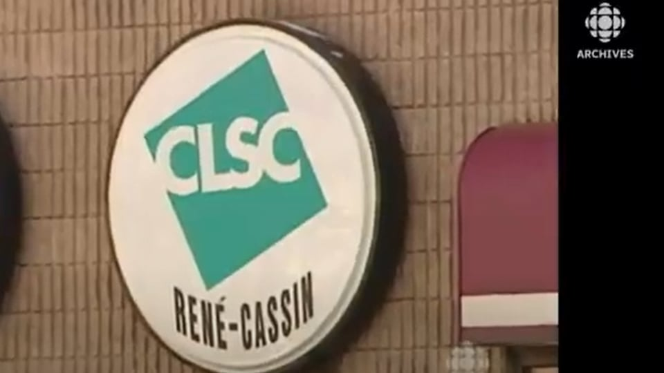 Enseigne du CLSC René-Cassin dans l'ouest de l'île de Montréal