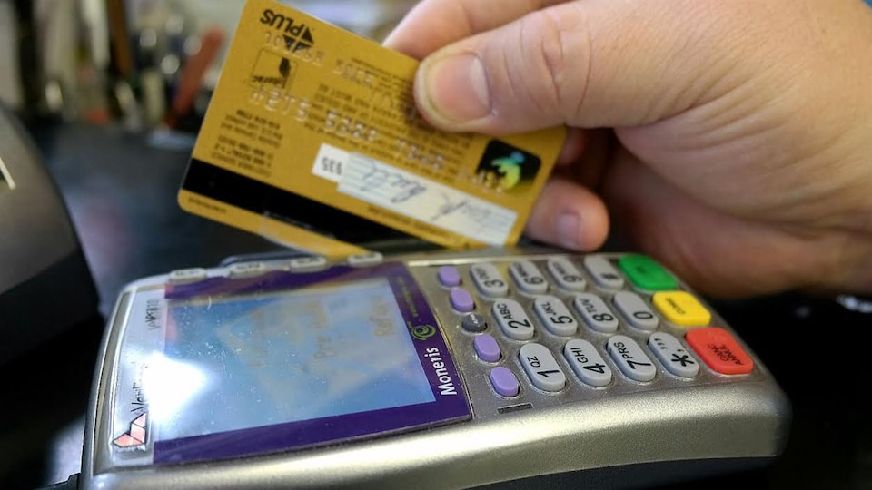 Achat par carte de crédit.