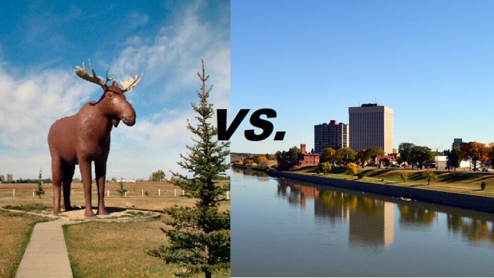 Moose Jaw vs. Prince Albert - Le combat des villes.