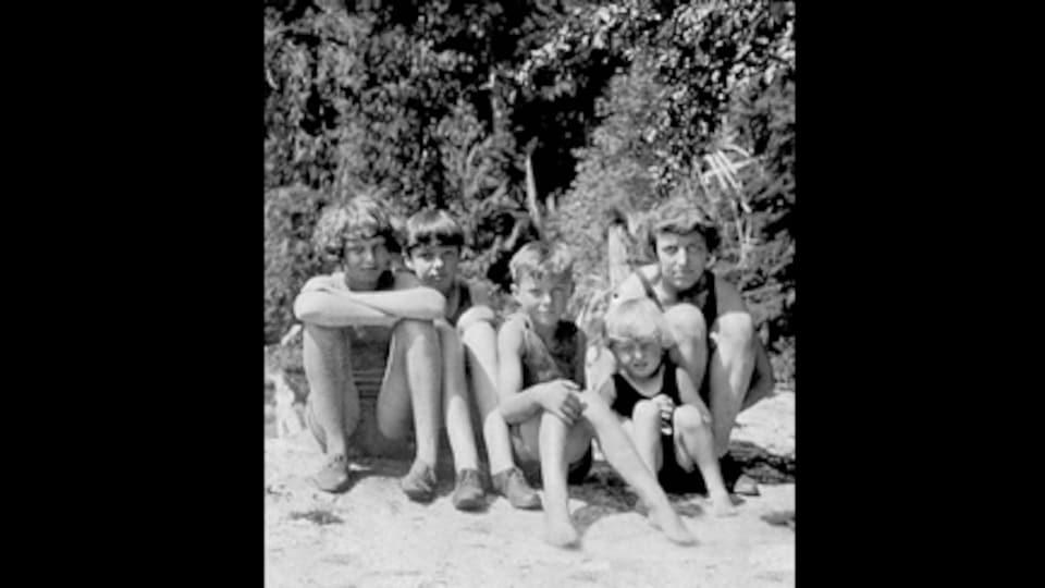 L'écrivaine Muriel Wylie Blanchet et quatre de ses enfants dans les années 30.