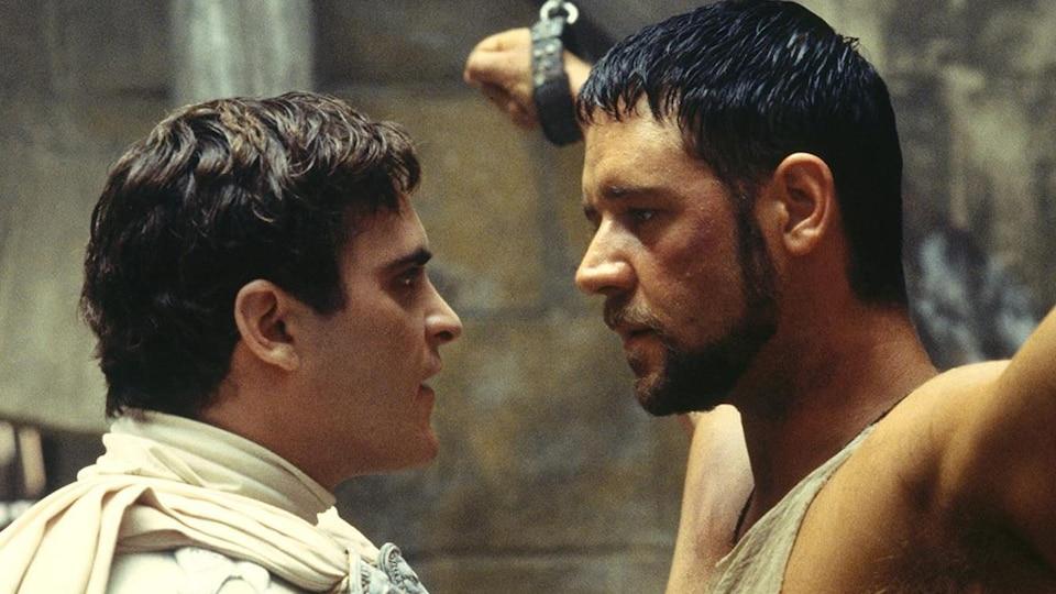 Joaquin Phoenix et Russell Crowe.