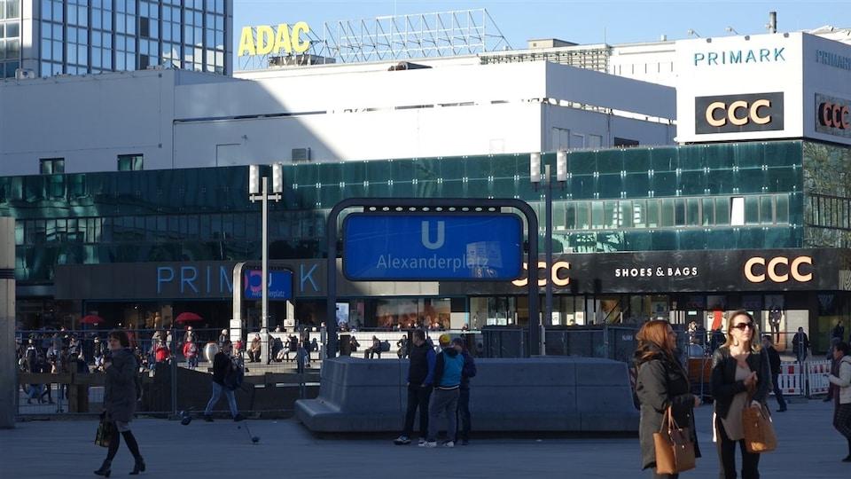 La place Alexanderplatz à Berlin.