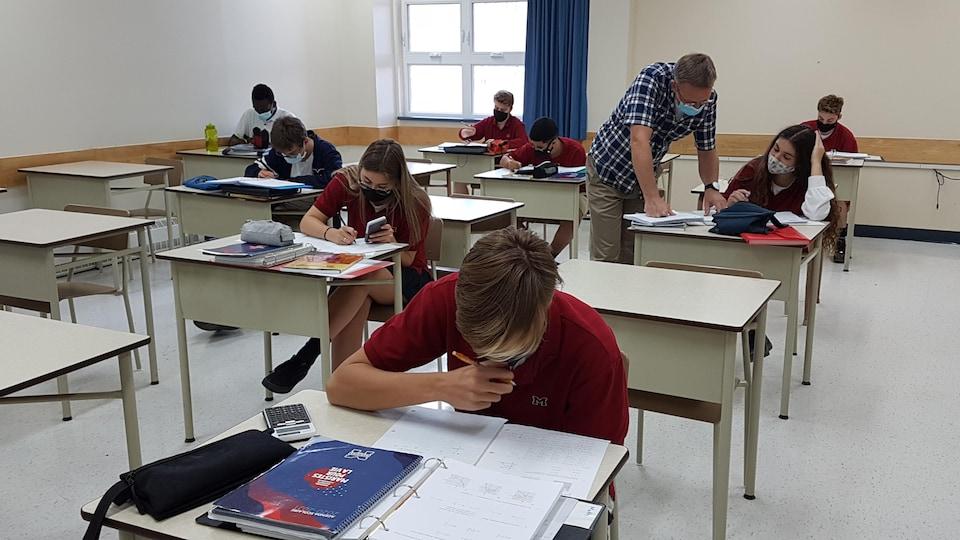 Un classe du secondaire.