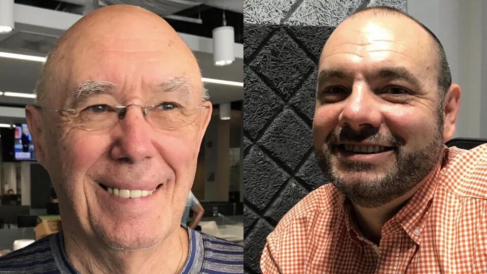 Donald Dennie à gauche, Marc Despatie à droite