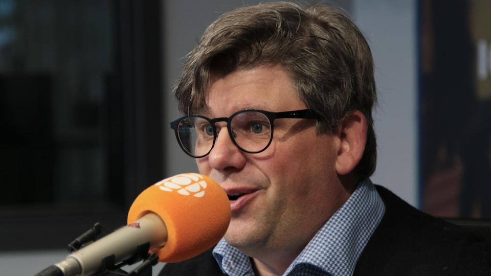 Éric Montigny, en studio