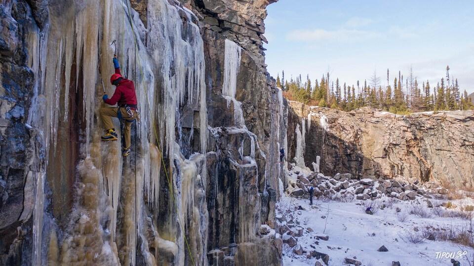 Des Nord-Côtiers ont déjà entamé leur saison d'escalade de glace.