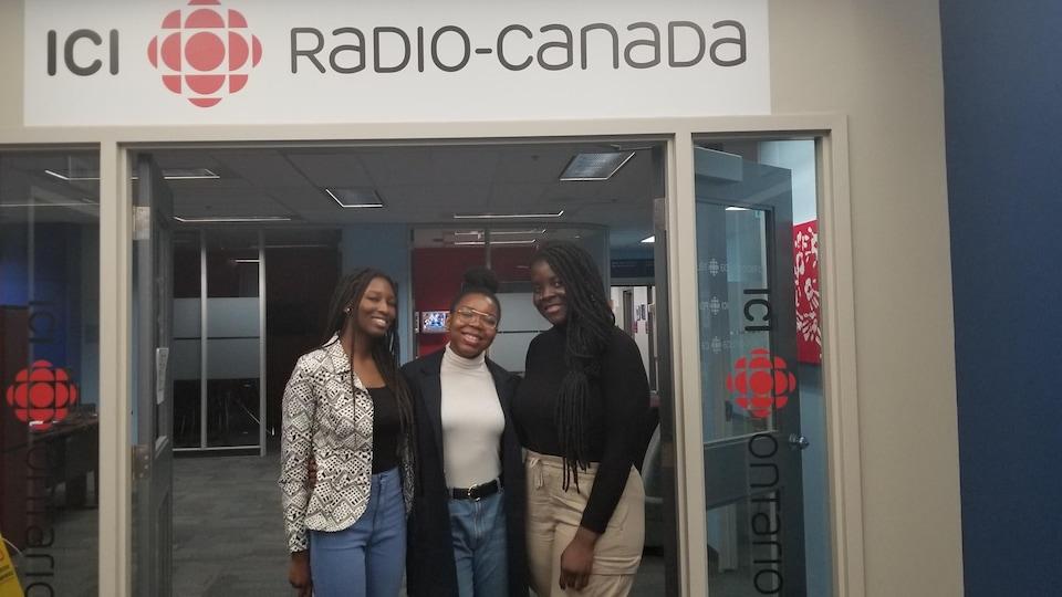 Béatrice Bouare, Darlene Nouemsi et Marie Kouakou, étudiantes et membres du Glendon African Network