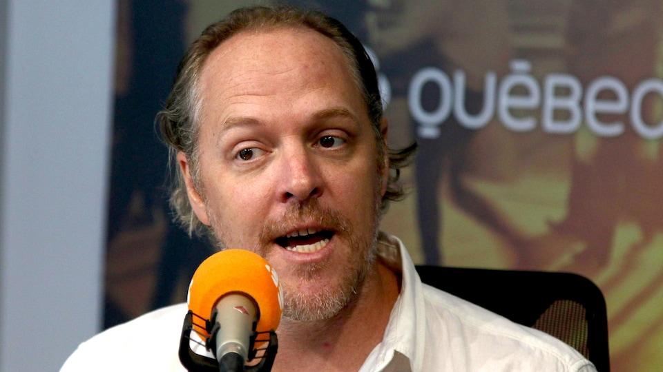 Fabien Cloutier, en studio