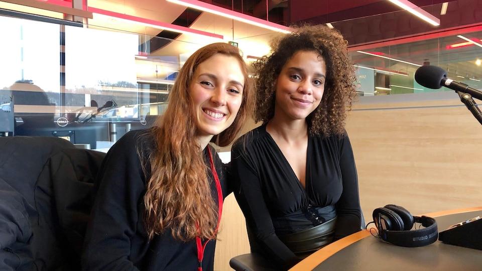 Les auteures Fanie Demeule et Chloé-Savoie Bernard.