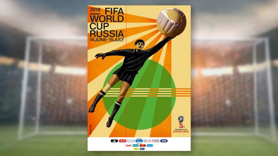L'affiche officielle de la Coupe du Monde de la FIFA 2018, dévoilée dans le métro de Moscou