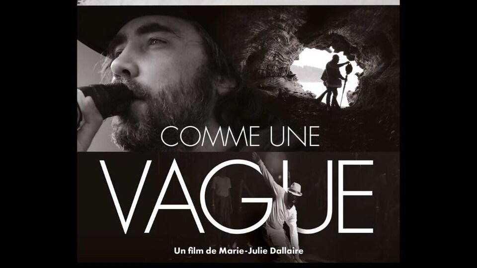 Affiche du film où plusieurs photos montrent un chanteur, un danseur, un orchestre, une vague et une grotte.