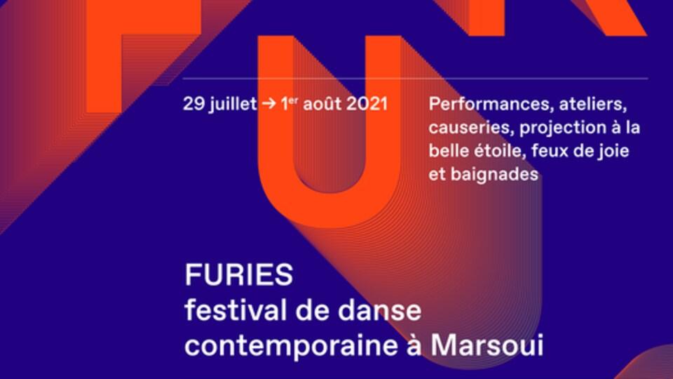 L'affiche du festival de danse contemporaine de Marsoui , en Gaspésie FURIES.