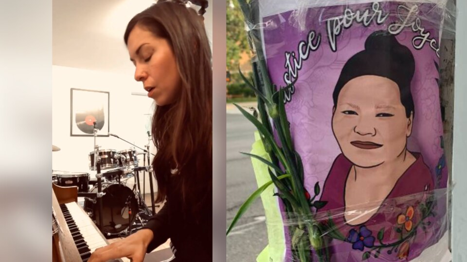 Geneviève Toupin rend hommage en musique à Joyce Echaquan.