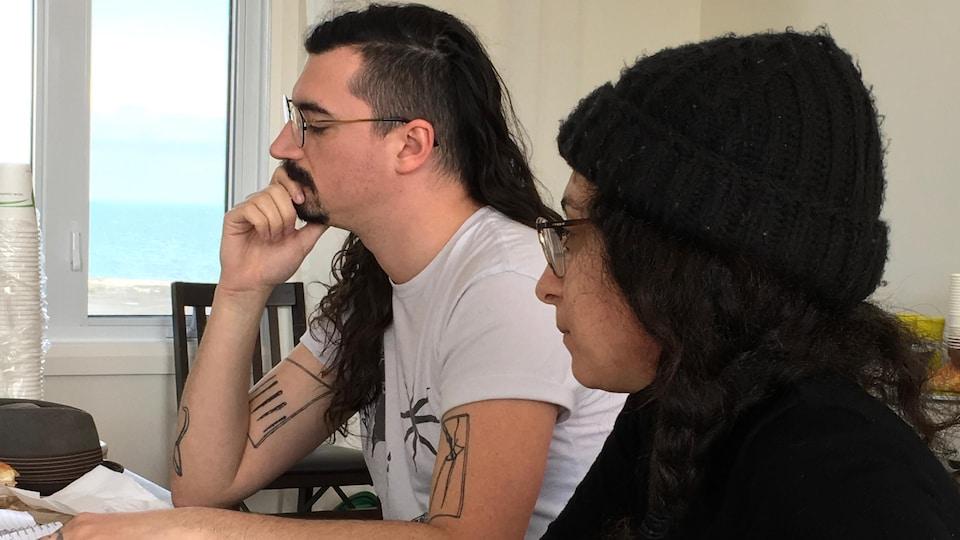 Gueze et Cynthia Naggar