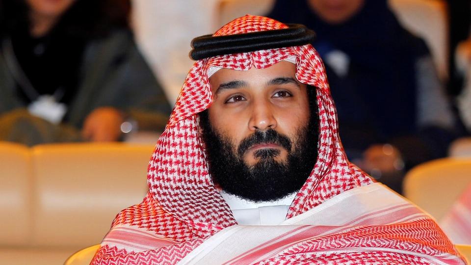 Le prince héritier d'Arabie Saoudite, Mohamed ben Salman lors de la présentation d'un plan de développement économique de 500 milliards de dollars le 24 octobre