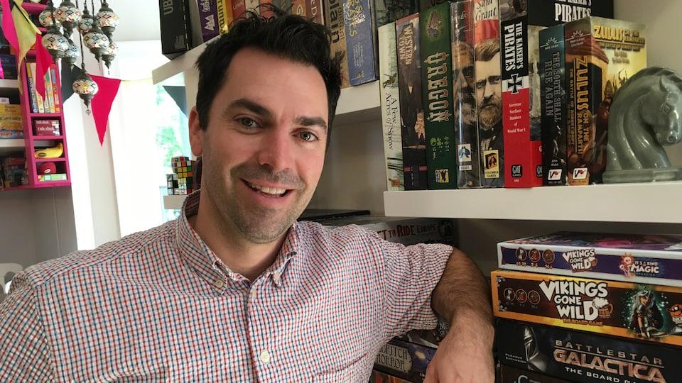 Sébastien Després, propriétaire du Bistro ludique Le Moque-Tortue.