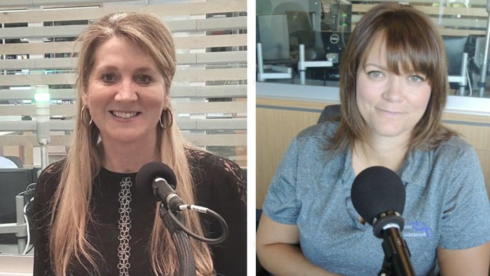 Lyne-Chantal Boudreau, présidente du regroupement féministe du Nouveau-Brunswick et Tina Thibodeau,  directrice de l'organisme Carrefour pour femmes de Moncton