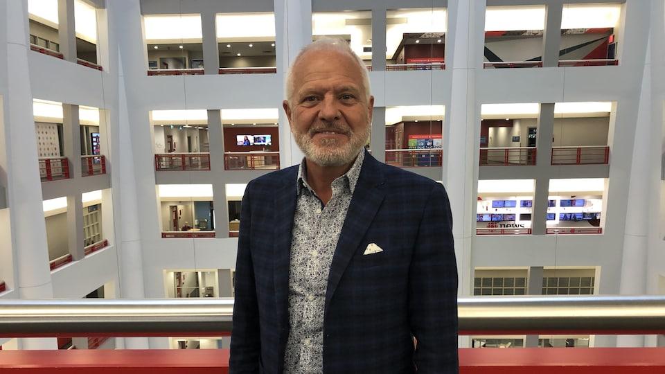 Normand Labrie en entrevue à Radio-Canada à Toronto