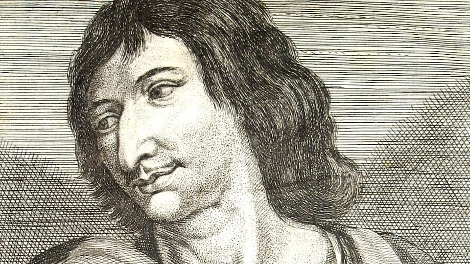 Portrait de Savinien de Cyrano de Bergerac par le peintre du 17e siècle Zacharie Heince. Source : Wikipedia.