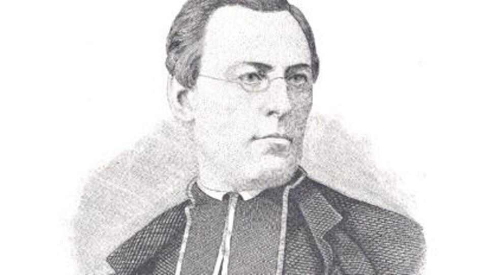 Portrait gravé de l'abbé Henri-Raymond Casgrain.