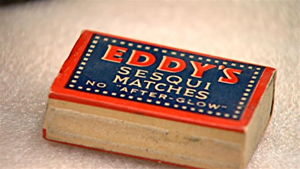 Une ancienne boîte d'allumettes de la compagine E.B. Eddy de Gatineau.