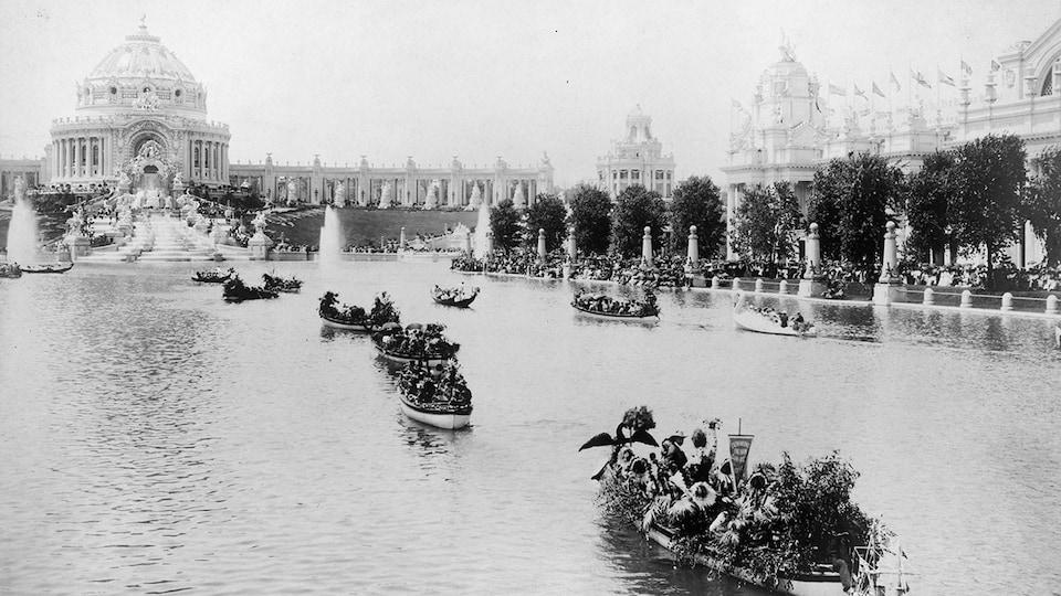 Commémoration du centenaire de l'acquisition de la Louisiane par les États-Unis lors de l'exposition universelle de Saint-Louis, en 1904.