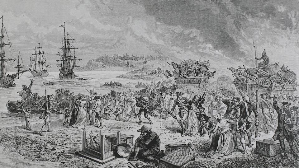 En 1755, les troupes britanniques ont imposé l'exil aux Acadiens.