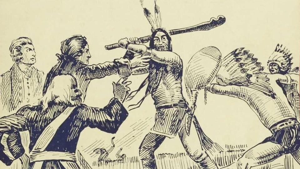 Couverture du livre <i>Le massacre de Lachine : roman canadien historique</i>.