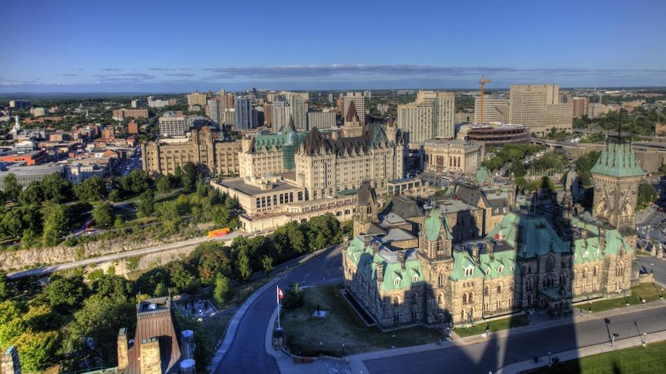 Ottawa vue du ciel.