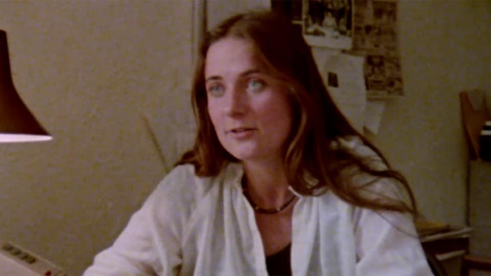 La journaliste Nathalie Petrowski à 24 ans.