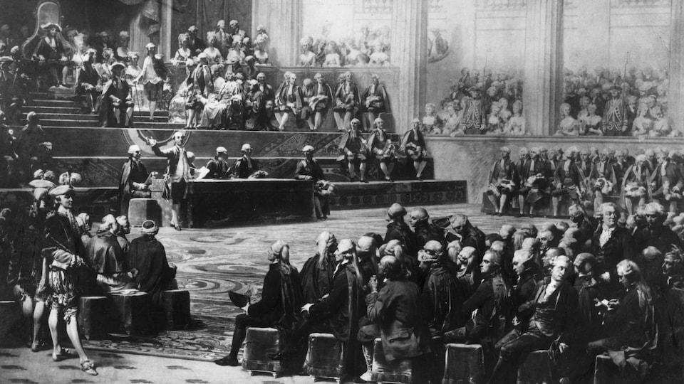 L'ouverture des états généraux de 1789 selon l'artiste Auguste Couder.