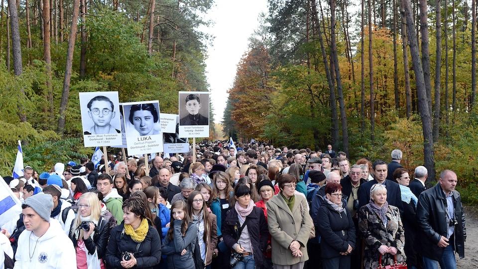 Commémoration du 70e anniversaire de la révolte du camp de Sobibor, le 14 octobre 2013.