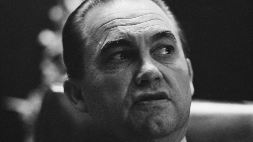 Le gouverneur de l'Alabama George Wallace en 1968.